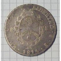 Provincias Unidas 8 Reales 1815 Plata Rara