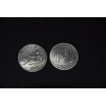 Dos Pesetas Española Año 1870 (dos Monedas)