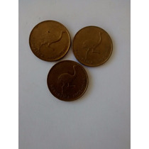 Numismatica Lote 3 Monedas 1 Cent Austral-1986-argentina