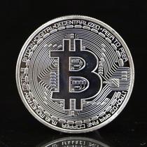 Bitcoin Btc Moneda Fisica Conmemorativa Plateada 1 Oz Troy