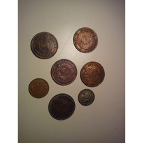 Lote 7 Monedas Antiguas.