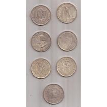 7 Replicas De Monedas De 1 Dolar Eeuu 4.2 Cm De Diametro