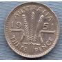 Australia 3 Pence 1951 Plata * George Vi *