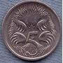 Australia 5 Cents 1997 * Oso Hormiguero * Echidna *