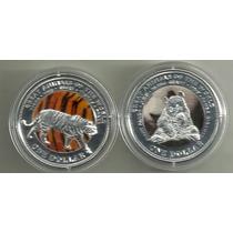 Moneda De Fiji Año 2009 Color Fauna Animales A Elegir