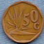 Sudafrica 50 Cents 1995 * Republica * Planta *
