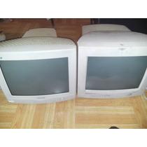 2 Monitores Crt 15 Pulgadas + Teclados