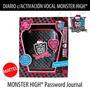 Diario Con Activacion Vocal Monster High Exclusivo