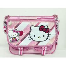 Mochila Morral Maletin Hello Kitty 3 En 1 Escolar Original
