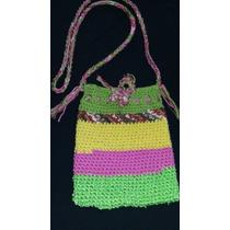 Bandolera O Carterita Tejida Crochet Nueva