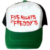 Gorras Five Night At Freddys Personalizadas, Unicas!!!