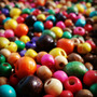 Cuentas De Madera N°6 ×500g - Colores A Elección O Surtido