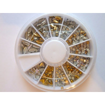 Carrusel De Strass Mini En Tonos Plata Y Oro!! Ideal Deco!!