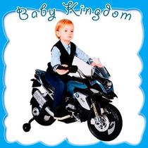 Moto A Bateria P/niños Bmw 6v C/ Rueditas, Luz Y Sonidos