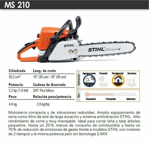 Motosierra stihl 210 espada 18 pulgadas envio gratis for Precio de motosierra