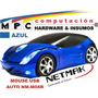 Mouse Auto Azul Óptico Usb C/ Cable Netmak Nm-m08b 800 Dpi