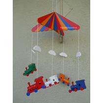 Moviles Infantiles Artesanales De Madera Con Trencitos