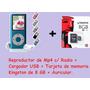 Mp4 Radio, Fotos, Videos, Memoria 8 Gb, Pantalla 1.8, Graba