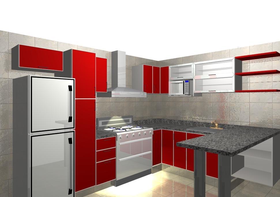 Muebles de cocina en melamina modernos imagui for Muebles de cocina modernos precios