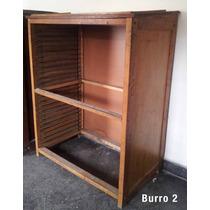 Antiguo Burro Tipografico De Imprenta Muebles Maderas Nobles