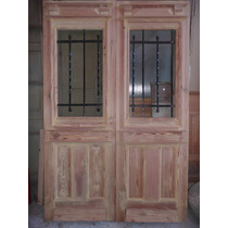 Puerta Doble Hoja En Pinotea