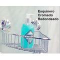 Repisas Esquineros Cromados-c/sopapas-sin Agujerear La Pared