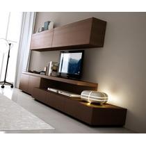Mueble Modular Mesa Rack Living Tv Lcd Progetto Mobili