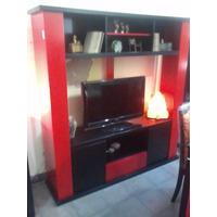 Organizador Tv Fija 180x180 Wengue Nuevo Con Rojo