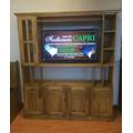 Modular Rack Lcd Mesa Tv 160 Cm Estilo Campo Encerado