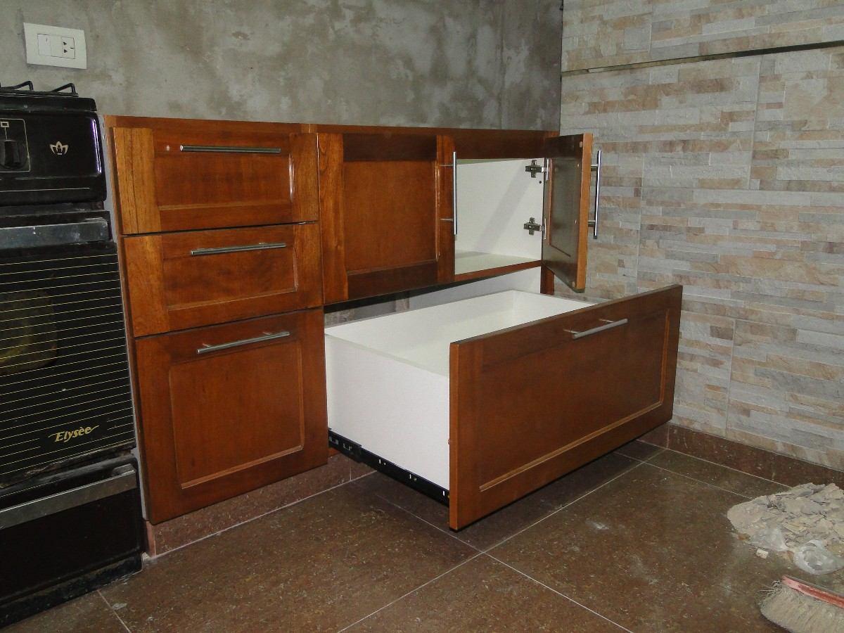 Muebles de cocina en madera hd 1080p 4k foto for Muebles cocina madera