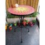Mesa Con Venecitas Con Tonos Rojo, Naranja Y Amarillo
