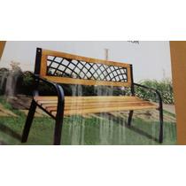 Banco Madera Caño Y Pvc Plaza Jardin Importado Oferta Costo