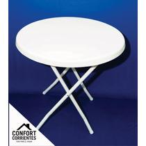 Mesa Plastico Plegable - Patas De Caño Reforzado