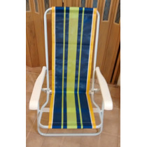 Silla Sillon Reposera Plegable Reclinable Ideal Playa Pileta