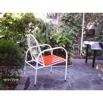Antiguo Y Original Sillon De Jardin