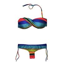 Bikini Bandeau Soft Y Culotte Less Rayada (f N6) Luz De Mar