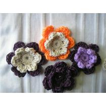 Flor Tejida Al Crochet Las Mas Linda!