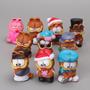 Garfield Lote X 10 Figuras De Goma 5 Cm, Ideal Adorno Torta