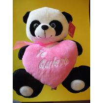 Muñeco Peluche Oso Panda Te Quiero