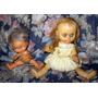 Muñecas De Goma.decada 60.(2).ojos Moviles. Antiguas.