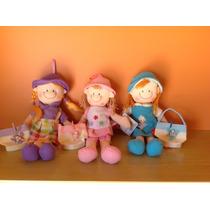 Muñecas De Tela Hermosas!! Con Carterita De Regalo Al Tono