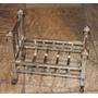Hermosa Y Antigua Cama Para Muñecas En Bronce Niquelado