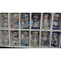 Lote De 12 Muñecas De Porcelana China