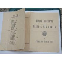 Programa De Teatro Municipal Año 1951