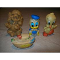 Muñecos Antiguos De Goma , Disney, Warner, Hanna Barbera