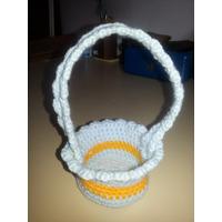 Canasta De Pascua Tejido Amigurumi Crochet