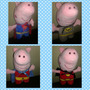 Peluche George Pig C/disfraz Batman Iron Man Spider Superman