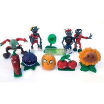 Plantas Vs Zombies Coleccion X 10 Muñecos P/torta O Jugar