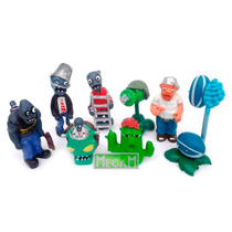 Plantas Vs Zombies Coleccion X 8 Muñecos Ideal Torta
