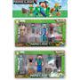 Set Muñecos Minecraft Figuras + Armas + Bloques + Accesorios